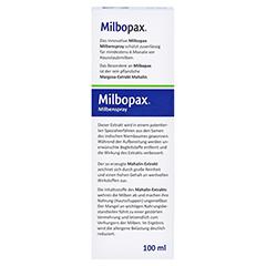 MILBOPAX Milbenspray Sprühlösung 100 Milliliter - Rückseite