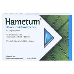 Hametum Hämorrhoidenzäpfchen 10 Stück N1 - Vorderseite