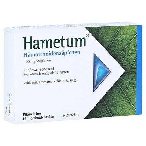Hametum Hämorrhoidenzäpfchen 10 Stück N1
