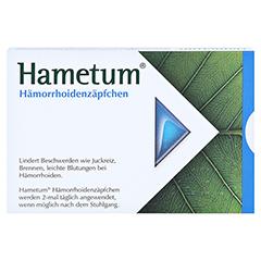 Hametum Hämorrhoidenzäpfchen 10 Stück N1 - Rückseite