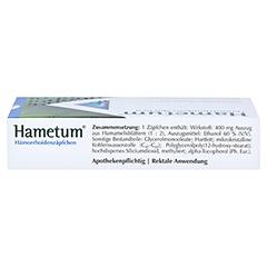 Hametum Hämorrhoidenzäpfchen 10 Stück N1 - Oberseite