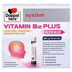 Doppelherz system Vitamin B12 Plus Trinkampullen 30x25 Milliliter - Vorderseite