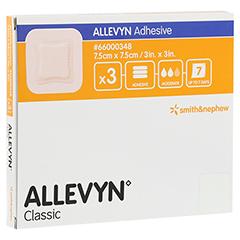 ALLEVYN Adhesive 7,5x7,5 cm haftende Wundauflage 3 Stück