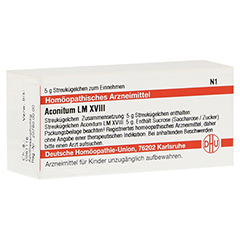 LM ACONITUM XVIII Globuli 5 Gramm N1