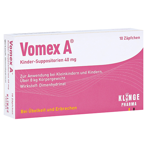 Vomex A Kinder 40mg 10 Stück N1