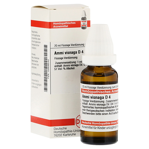 AMMI VISNAGA D 4 Dilution 20 Milliliter N1