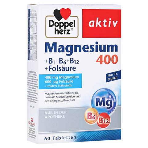 Doppelherz aktiv Magnesium 400 mg + B1 + B6 + B12 + Folsäure 60 Stück