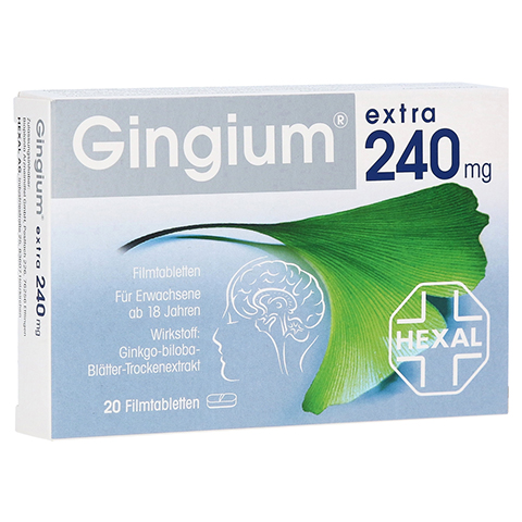 Gingium extra 240mg 20 Stück