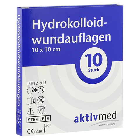 AKTIVMED Hydrocolloidwundauflage 10x10 cm 10 Stück