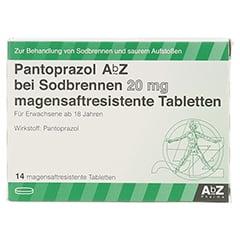 Pantoprazol AbZ bei Sodbrennen 20mg 14 Stück - Vorderseite