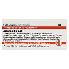 LM ACONITUM XVIII Globuli 5 Gramm N1 - Vorderseite
