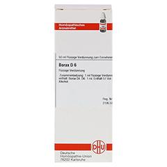 BORAX D 6 Dilution 50 Milliliter N1 - Vorderseite