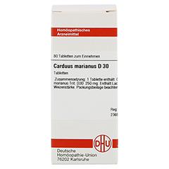 CARDUUS MARIANUS D 30 Tabletten 80 Stück - Vorderseite
