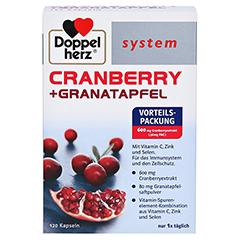 DOPPELHERZ Cranberry+Granatapfel system Kapseln 120 Stück - Vorderseite