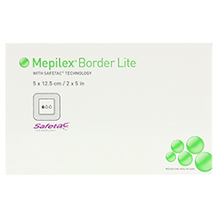 MEPILEX Border Lite Schaumverb.5x12,5 cm steril 5 Stück - Vorderseite