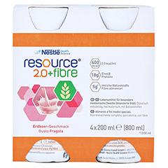 RESOURCE 2.0 fibre Erdbeere 4x200 Milliliter - Vorderseite