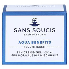 SANS SOUCIS MOISTURE Aqua Benefits 24h Feuchtigkeits-Creme-Gel 50 Milliliter - Vorderseite