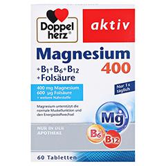 Doppelherz aktiv Magnesium 400 mg + B1 + B6 + B12 + Folsäure 60 Stück - Vorderseite