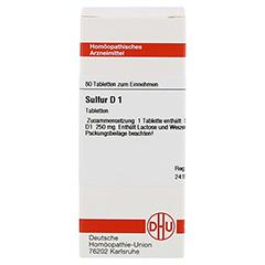SULFUR D 1 Tabletten 80 Stück N1 - Vorderseite