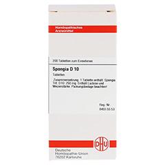 SPONGIA D 10 Tabletten 200 Stück N2 - Vorderseite