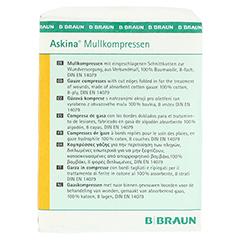 ASKINA Mullkompressen 10x10 cm unsteril 100 Stück - Linke Seite