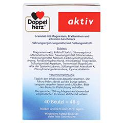 DOPPELHERZ Magnesium+B Vitamine DIRECT Pellets 40 Stück - Rechte Seite
