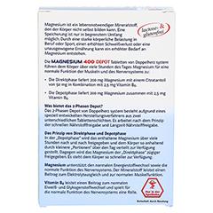 DOPPELHERZ Magnesium 400 Depot system Tabletten 30 Stück - Rückseite
