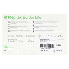 MEPILEX Border Lite Schaumverb.5x12,5 cm steril 5 Stück - Rückseite