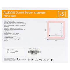 ALLEVYN Gentle Border 10x10 cm Schaumverb. 5 Stück - Rückseite