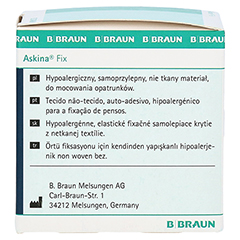 ASKINA Fix Fixiervlies 5 cmx10 m hypoallergen 1 Stück - Rückseite