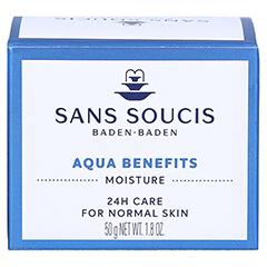 SANS SOUCIS MOISTURE Aqua Benefits 24h Pflege 50 Milliliter - Rückseite