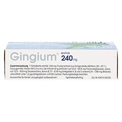 Gingium extra 240mg 60 Stück N2 - Unterseite