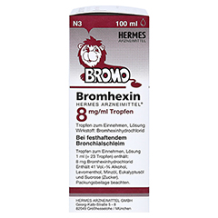 Bromhexin Hermes Arzneimittel 8mg/ml 100 Milliliter N3 - Linke Seite
