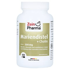 MARIENDISTEL+CHOLIN Kapseln 80% Silymarin 100 Stück