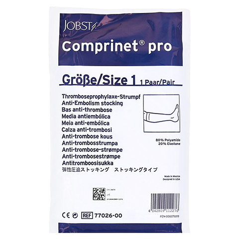 COMPRINET pro Strumpf knielang Gr.1 weiß 2 Stück