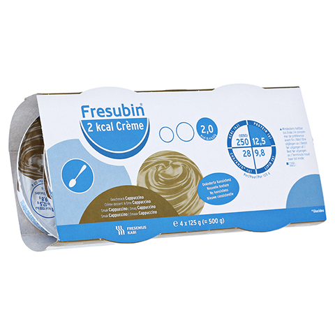 FRESUBIN 2 kcal Creme Cappuccino im Becher 4x125 Gramm