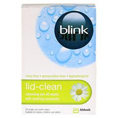 BLINK lid-clean Reinigungstücher für Augenlider 20 Stück - Vorderseite