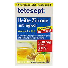 TETESEPT heiße Zitrone mit Ingwer zuckerfr.Pulver 10x3 Gramm - Vorderseite