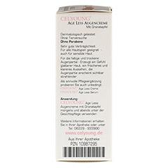 CELYOUNG age less Augencreme Granatapfel 15 Milliliter - Rechte Seite
