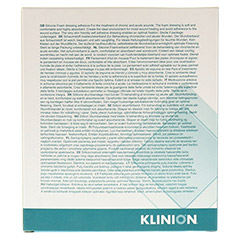 KLINIDERM Foam silicone Border 7,5x7,5 cm 5 Stück - Rückseite