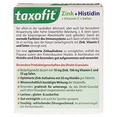 TAXOFIT Zink+Histidin Direkt-Granulat 20 Stück - Rückseite