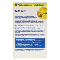 TETESEPT heiße Zitrone mit Ingwer zuckerfr.Pulver 10x3 Gramm - Rückseite