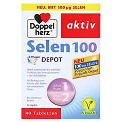 DOPPELHERZ Selen 100 2-Phasen Depot Tabletten 40 Stück - Vorderseite