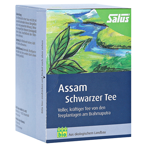ASSAM schwarzer Tee Bio Salus Filterbeutel 15 Stück