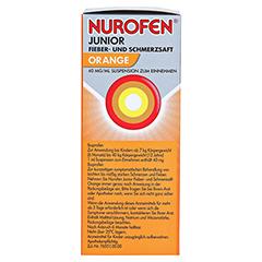 Nurofen Junior Fieber- & Schmerzsaft Orange 40 mg/ml 100 Milliliter N1 - Linke Seite