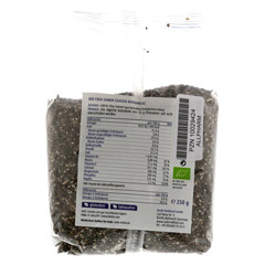 CHIA SAMEN Bio 250 Gramm - Rückseite