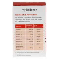 MY BELLENCE Lebenskraft&Nervenstärke Tabletten 60 Stück - Rückseite