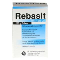 REBASIT Mineral Pulver 200 Gramm - Rückseite
