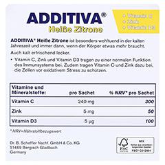 ADDITIVA heiße Zitrone Pulver 120 Gramm - Rückseite