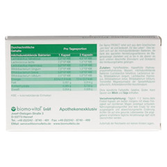 BIOMO Aktiv Probiot Kapseln 30 Stück - Rückseite